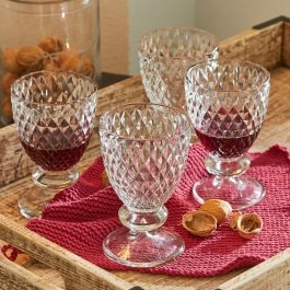 Lot de 4 verres à vin Nantes transparent
