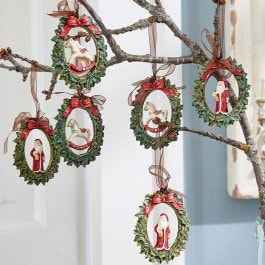 Lot de 6 décorations à suspendre Chaignes multicolore