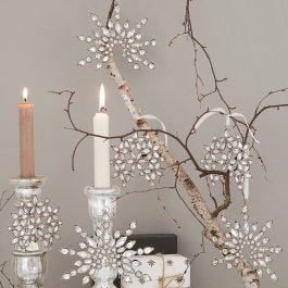 Lot de 6 décorations de Noël Valvi argenté