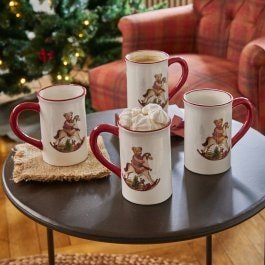 Lot de 4 tasses Troms multicolore