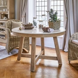 Table Mistral marron/blanc