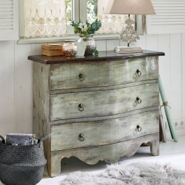 Commode Greendy gris vieilli