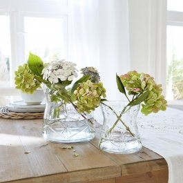 Lot de 2 vases Floyd transparent