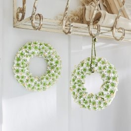 Lot de 2 couronnes Willmare blanc/vert