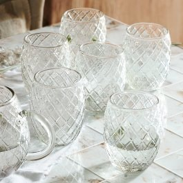 Lot de 6 verres Corrofin transparent