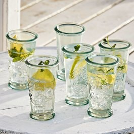 Lot de 6 verres Giordano transparent