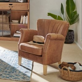 Fauteuil Bartley marron