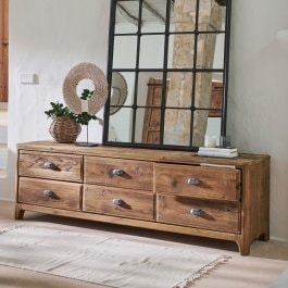 Commode Wittfield marron
