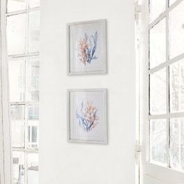 Lot de 2 tableaux Fabbri blanc/multicolore