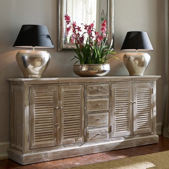 Commode Houston marron-gris
