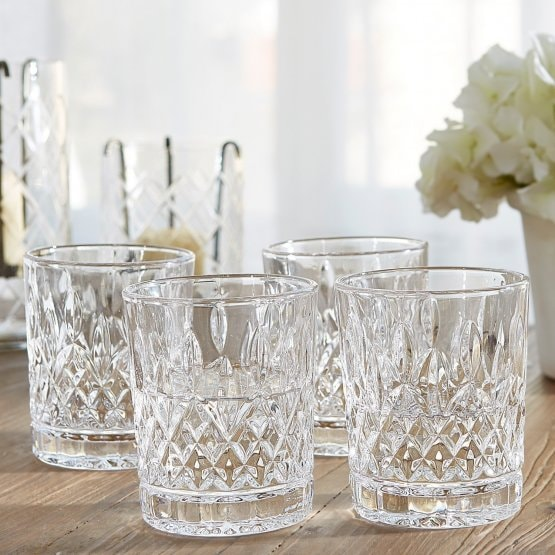 Lot de 4 verres Crista transparent