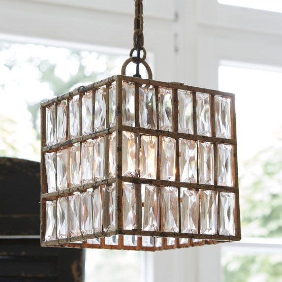 Suspension Rachel transparent/beige
