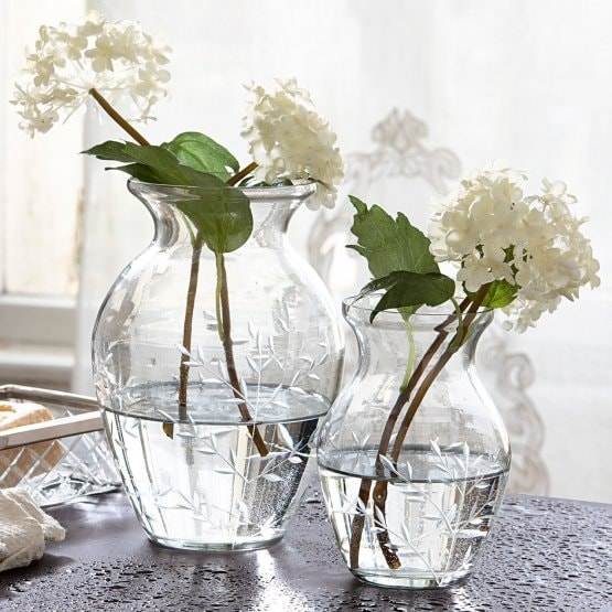 Lot de 2 vases Paimpont transparent