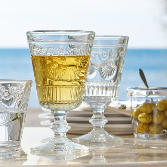 Lot de 6 verres à vin Beroille transparent