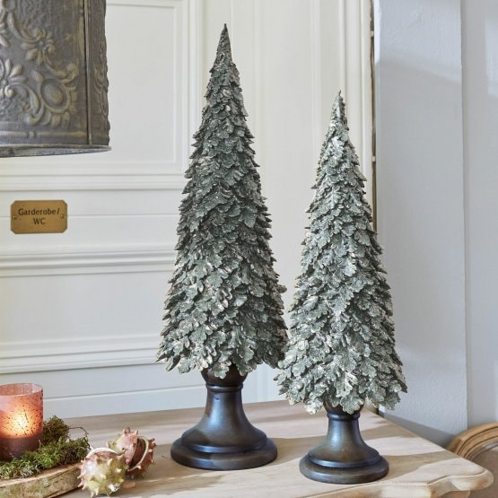 Lot de 2 decorations arbres Hamot vert