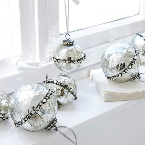 Lot de 6 décorations de Noël Cloé