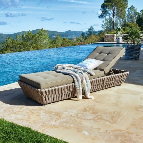 Chaise longue Uchon taupe