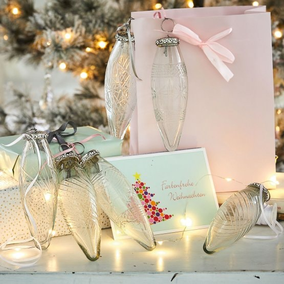 Lot de 6 décorations de Noël Loulay transparent
