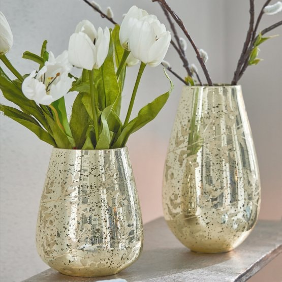 Lot de 2 vases Celsoe argenté