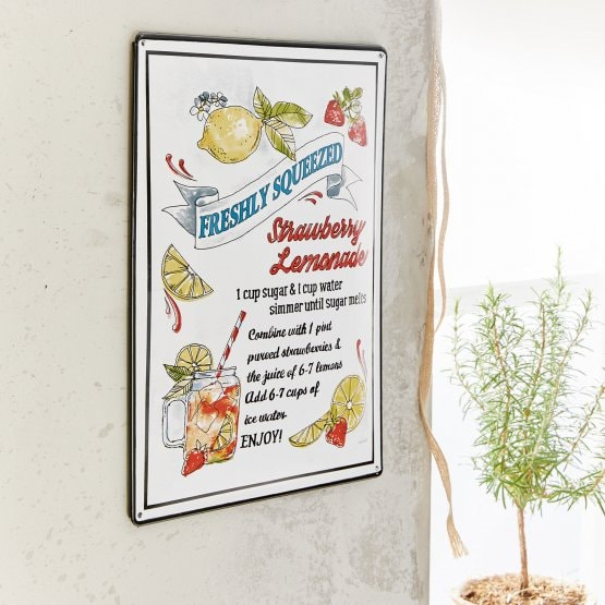Plaque décorative Lemonade multicolore