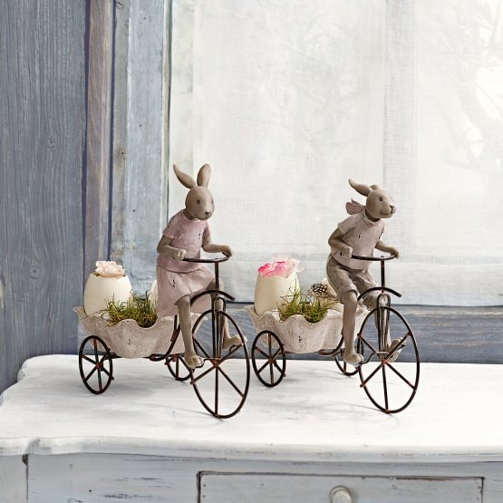 Lot de 2 lapins Racing Rabbits marron