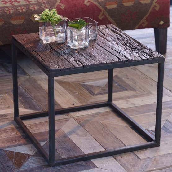 Table basse Harrisburg marron/noir