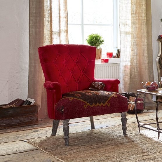 Fauteuil Hinsdale rouge