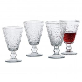 Lot de 4 verres à vin Sarton transparent