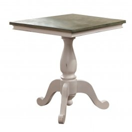 Table Kingston blanc/marron