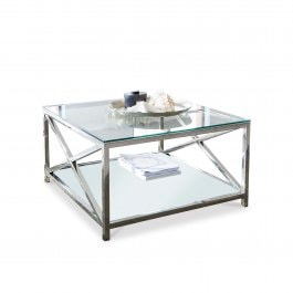 Table basse Stamford argenté